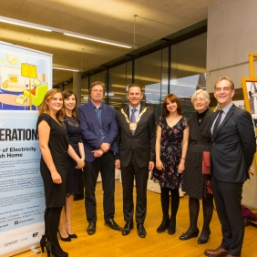 The exhibition team along with Cllr Tom Murphy, Dr Finola Kennedy and Gerard Crowley